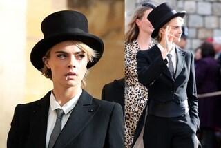 Cara Delevingne vestita da uomo al Royal Wedding: aveva chiesto il permesso a Eugenie