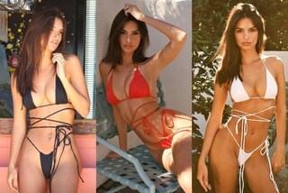 """Emily Ratajkowski sempre più hot: il micro bikini sgambato copre solo """"il necessario"""""""