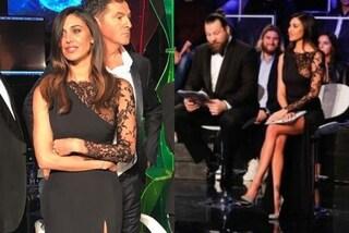 "Belén Rodriguez sexy per la finale di ""Tu si que vales"": maxi spacco e trasparenze audaci"