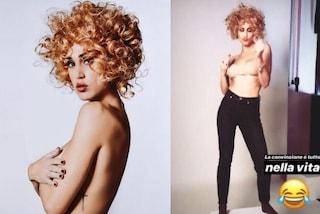 Cecilia Rodriguez cambia look: diventa bionda e riccia ma è solo una parrucca