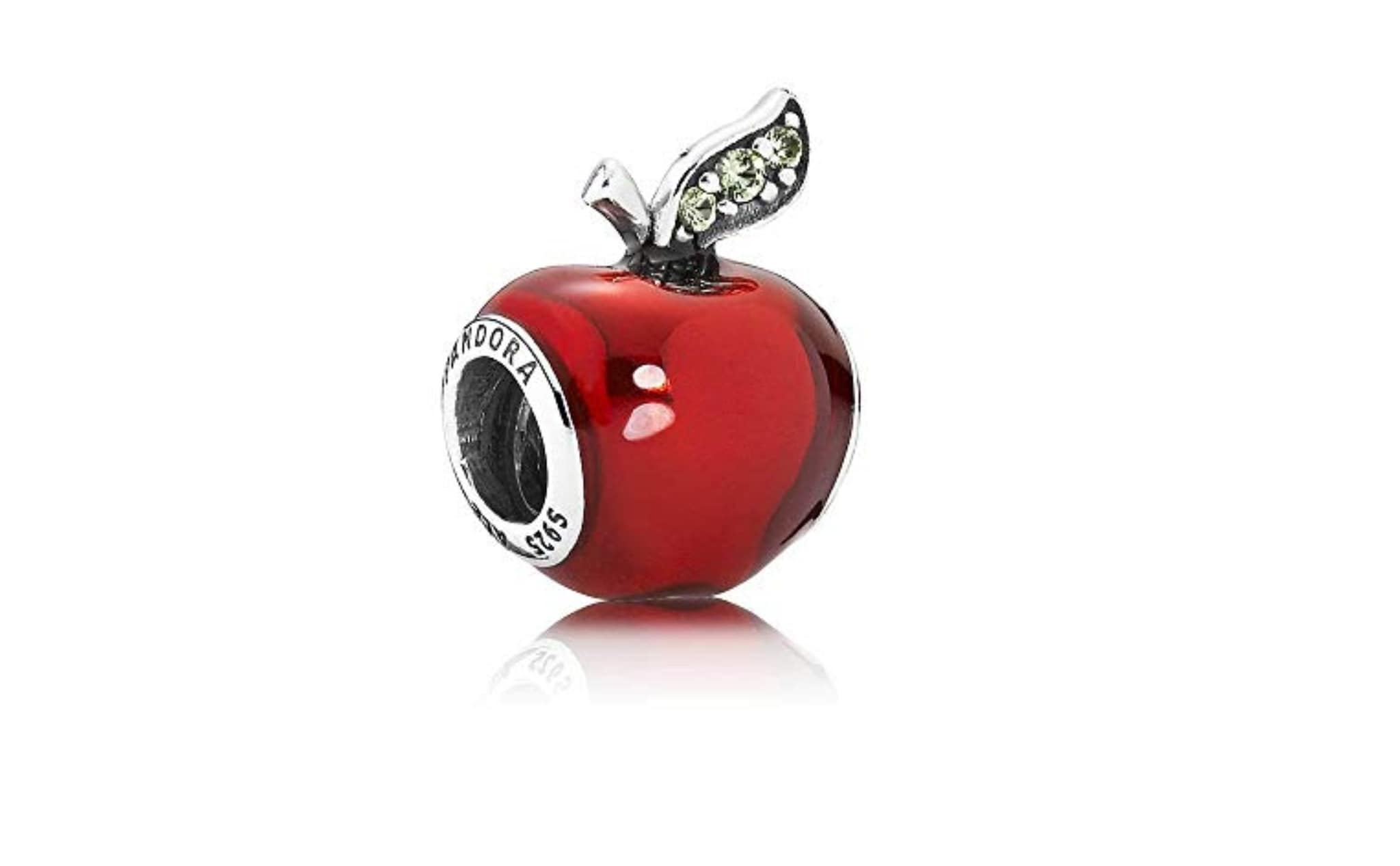 charm pandora quadrifoglio rosso