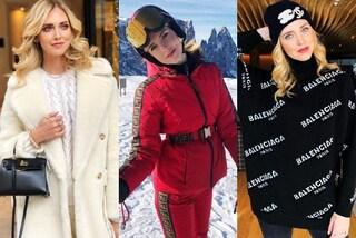 Chiara Ferragni, per la vacanza sulla neve solo abiti firmati: ora è pronta per il viaggio di nozze