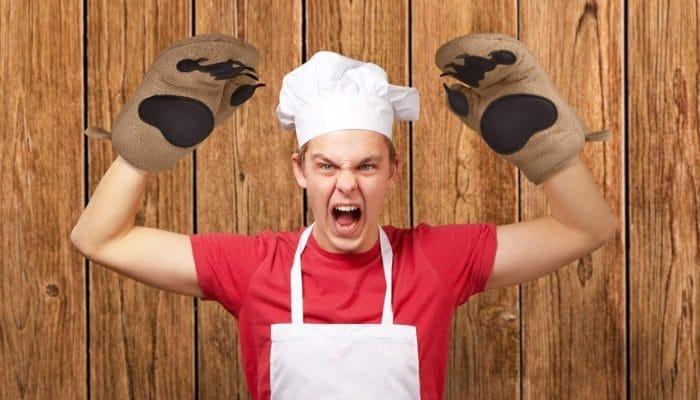 guantoni da forno zampe di orso