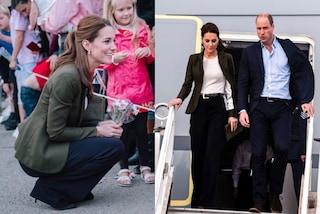 Kate Middleton torna a indossare i pantaloni: il look maschile è elegantissimo