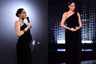 Meghan Markle col pancione è la star dei British Fashion Awards: incanta in total black