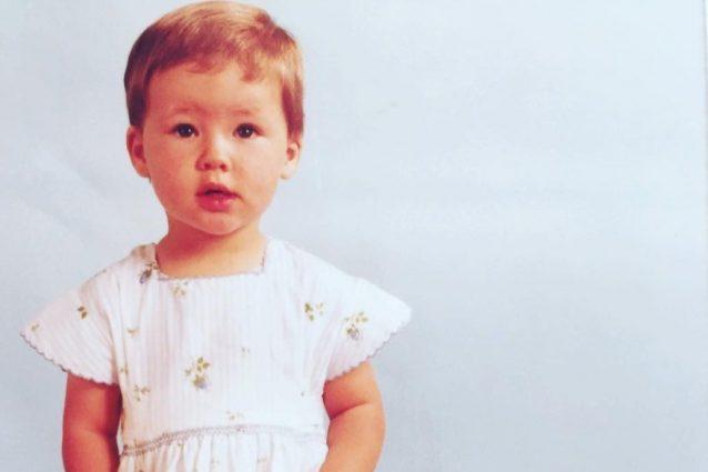 Michelle Hunziker confonde i fan con la sua foto da bambina