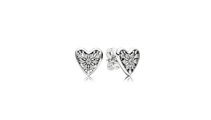 orecchini Pandora cuore d'inverno