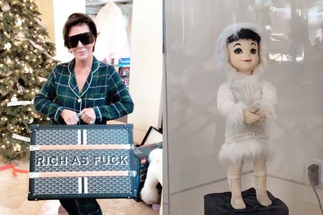 Regali Di Natale Famiglia.Il Natale Dei Kardashian Una Bambola Per Kourtney Un Baule Da