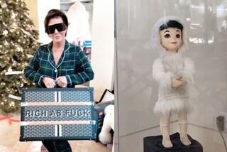 Il Natale dei Kardashian: una bambola per Kourtney, un baule da 13mila euro per Kris