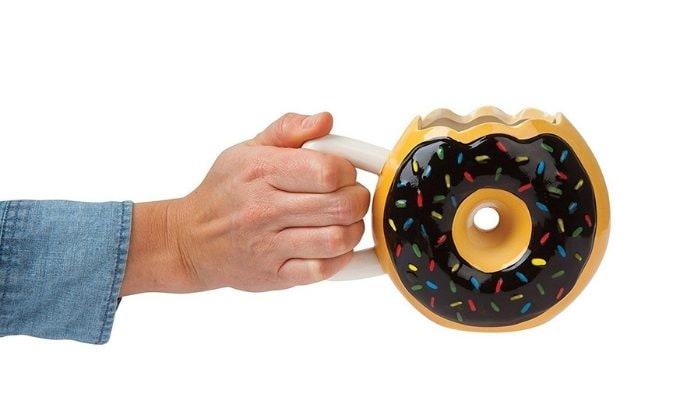 Tazza Mug in Ceramica con Manico a Forma di Ciambella Donut