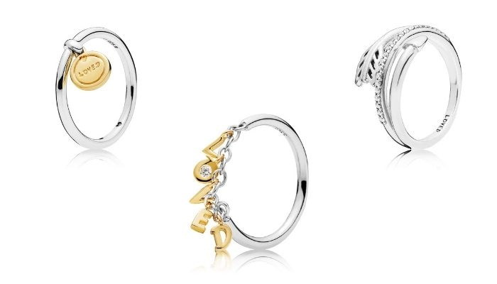 anello pandora con cuore pendente