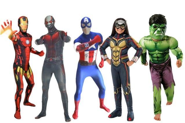 Ragazzi ANT-Man Costume Bambini Marvel DC Comics Supereroe Costume Outfit con licenza