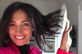 """Il nuovo taglio di Caterina Balivo: """"Mi sa che sono un po' troppo corti"""""""