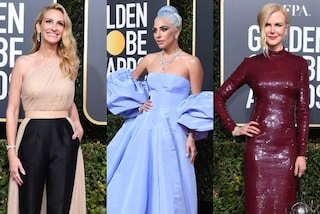 "Golden Globe 2019, i look delle star: Lady Gaga ""fata turchina"", Julia Roberts in pantaloni"