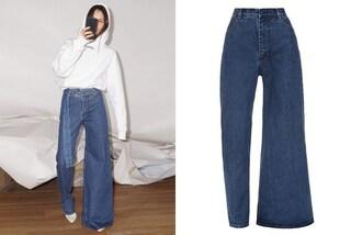 Metà mom fit, metà a zampa: i jeans asimmetrici sono i più originali dell'inverno 2019