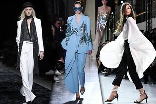 """Addio gonne da """"principessa"""": i pantaloni diventano couture alle sfilate di Parigi"""