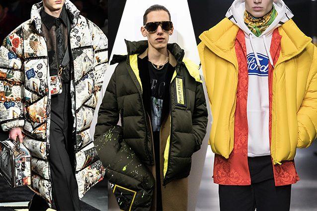 da sinistra Fendi, Philipp Plein, Versace