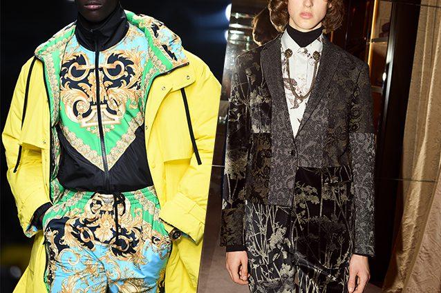da sinistra Versace, Etro