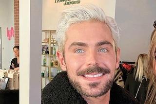 Zac Efron irriconoscibile: cambia look e passa ai capelli biondo platino