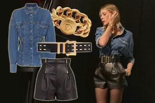 Isola dei famosi 2019, quinta puntata: Alessia Marcuzzi camicia di jeans e cintura sempre uguale