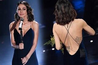Anna Tatangelo, per la finale di Sanremo 2019 abito sexy e scollatura hot