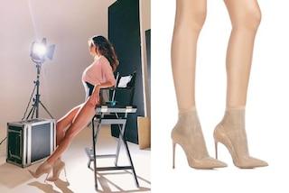 Belén Rodriguez, body aderente e cristalli ai piedi: il sexy look della showgirl