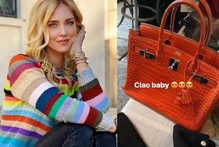 Chiara Ferragni, nuova borsa da 25mila euro: l'influencer mostra ai fan la Birkin di coccodrillo