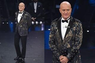 """Sanremo 2019: """"Fino ad adesso vince la giacca"""", Bisio conquista tutti con l'abito brillante"""
