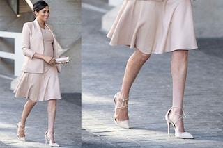 Gambe effetto glow, il segreto di Meghan Markle per avere gambe perfette anche in inverno