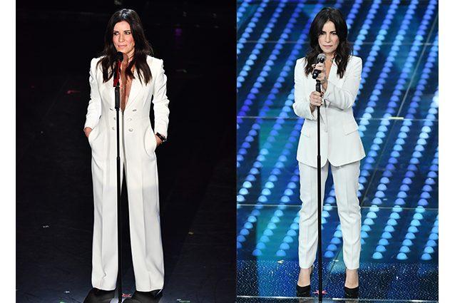 Dettagli su Tailleur completo donna bianco nero giacca a manica lunga e pantalone 4831