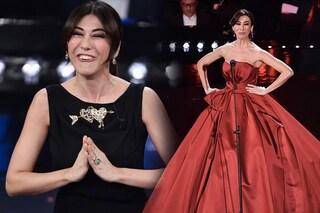 Virginia Raffaele a Sanremo 2019: 50 sfumature di nero... con un po' di rosso