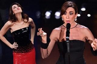 Sanremo 2019, la finale: Virginia Raffaele abbaglia con paillette rosse, delude con l'abito nero