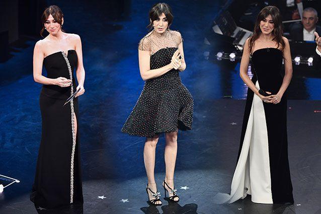 6aa7e9e3e2e9 Virginia Raffaele a Sanremo 2019  50 sfumature di nero… con un po ...