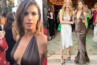 Elisabetta Canalis più sexy che mai: l'abito cioccolato che rivela i capezzoli manda in tilt il web