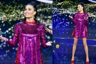 Elisabetta Gregoraci scintillante a Made in Sud: abito di paillettes fucsia per la seconda puntata