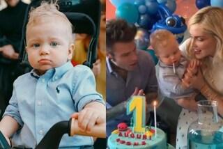 Il compleanno di Leone, il figlio di Fedez e Chiara Ferragni rigurgita sulla torta