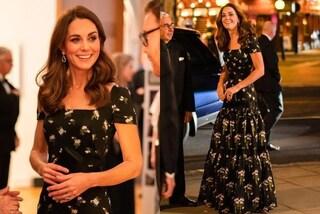 Kate Middleton ricicla ancora, al Gala indossa lo stesso abito ma modificato