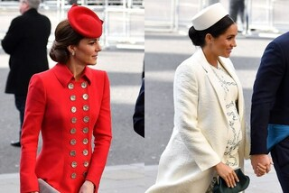 "Kate Middleton e Meghan Markle insieme all'evento ufficiale ma i look sono ""opposti"""