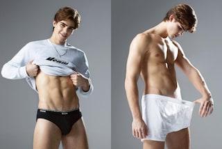 Il figlio di Rocco Siffredi posa in mutande: Leonardo Tano diventa modello per MSGM