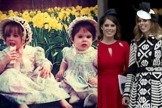 Eugenie e Beatrice di York ieri e oggi: ecco com'erano le cugine reali da piccole