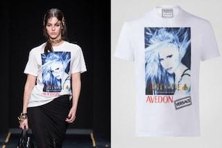 Donatella Versace icona fashion: la foto di 20 anni fa firmata Avedon su felpe e T-shirt
