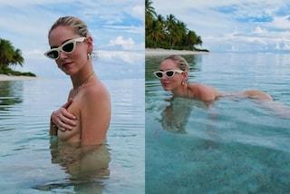 Chiara Ferragni fa il bagno nuda: la vacanza in Polinesia diventa hot