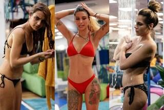 Da Jessica Mazzoli a Ivana Icardi, tutte in bikini al GF 16: al reality la doccia diventa hot