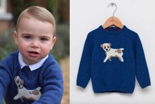 Louis registra il sold out: spopola il maglioncino con il cane del terzo figlio di William e Kate