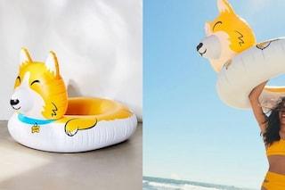 Il salvagente a forma di cane Corgi è il gonfiabile più cool dell'estate 2019