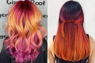 Sunset hair: per essere trendy nell'estate 2019 i capelli devono ispirarsi ai colori del tramonto