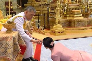 Il re di Thailandia sposa la guardia del corpo: lei deve strisciare ai suoi piedi per essere regina