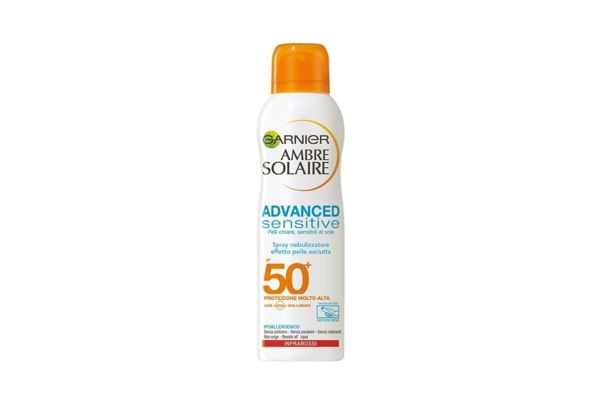 Spray solare 50+ Garnier Ambre Solaire Advanced Sensitive