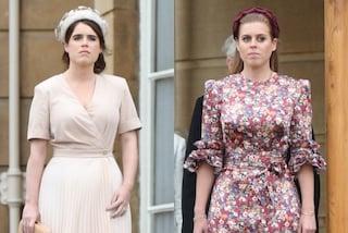Eugenie e Beatrice prendono il posto di Meghan e Kate: sono loro le più glamour al Garden Party