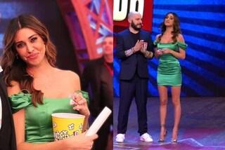 Belén Rodriguez in verde: tubino e tacchi a spillo per l'ultima puntata di Colorado